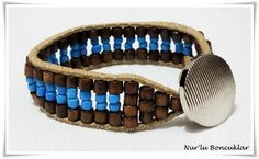 DIY Kahverengi Mavi Bileklik / DIY Brown Blue Bracelet
