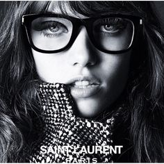 #HediSlimane shoots Grace Hartzel for #SaintLaurent Spring/Summer 2015 Eyewear #Campaign.