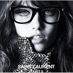 #HediSlimane shoots Grace Hartzel for #SaintLaurent Spring/Summer 2015 Eyewear #Campaign.