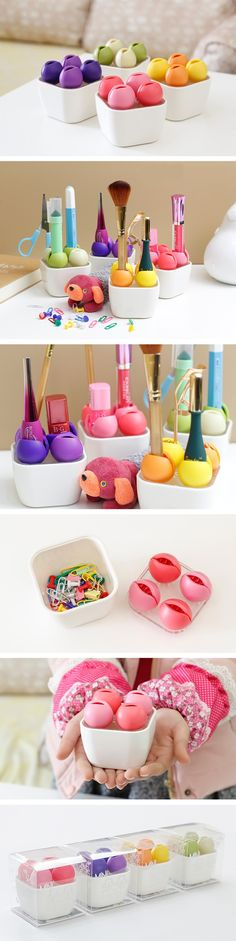 INFMETRY:: Small Flower Shaped Makeup Cosmetics Organizer