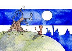 L'appendistelle by IreneMontano on DeviantArt #hanger #illustration #reel #stars #magicnight