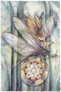 Jody Bergsma dragon-rider-the-greatest-success-is-to-live-life-in-your-own-way fairy watercolor art painting