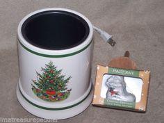 Pfaltzgraff Christmas Heritage Electric Candle Warmer Plus Ornament | eBay