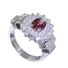 winning Garnet Silver Red Ring jaipur L-1in US 5678