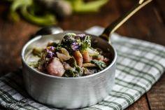 """<p>La mia ricetta per l'mtc53 """"Minestra di borragine con patate viola, rosse e porri"""". Grazie Vittoria con la tua scelta mi hai fatta felice, amo le minestre in tutti i modi e con tutte le verdure, verdi o colorate che…</p>"""