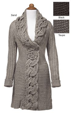 Gilet Crochet, Crochet Jacket, Crochet Beanie, Crochet Cardigan, Knit Crochet, Cardigan Sweaters, Crochet Trim, Irish Crochet, Mode Crochet