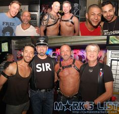 #BillsFillingStation in #WiltonManors, FL hosts a monthly leather based #DILFParty. They celebrated their first anniversary with a party that featured hot men, ice cold drinks, and DJ Herbie James spinning all night long. #gay #leather #MarksList http://www.jumponmarkslist.com/us/fl/fll/images/mp/bills_filling_station/2014/020914_1.php