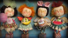 """Человебрики : """" Сладкие ангелочки"""". (I tried out the google translator on her blog) these sweet dolls are by Yulia Choklina in Ukraine."""