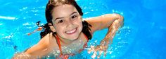 Photo about Happy young girl having fun in the swimming-pool. Image of leisure, play, water - 6368882