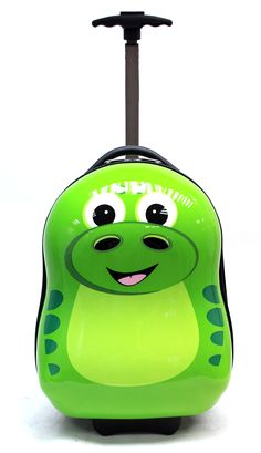 """CUTIES AND PALS KIDS BOYS GIRLS TRAVEL 17"""" CARRY-ON TROLLEY LUGGAGE - DINOSAUR. Material : ABS+Polycarbonate Mix. Carry-On. Two wheeled. SIZE : 17"""" H x 12"""" x 10"""" Weight : 3.97 lbs. STURDY. LIGHT WEIGHT. HIGH QUALITY. Note : PLEASE PEEL OFF THE PROTECTIVE FILM ON THE HARD SHELL TO SEE THE BEAUTIFUL GLOSSY FINISH."""