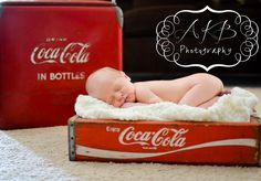 Instead of Coca-Cola on the bottom, photoshop on the baby's name/date of birth/birth weight and length..in Coca-Cola font.