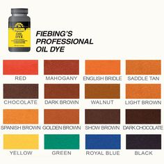 Fiebing S Leather Dye Color Chart Crafts Leather
