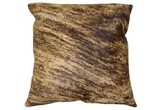 Torino Cowhide 17x17 Pillow, Brindle on OneKingsLane.com