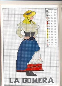 Embroidery Needles, Cross Stitch Embroidery, Cross Stitch Charts, Cross Stitch Patterns, Stitch Doll, Art Pictures, Needlework, Retro, Crafts