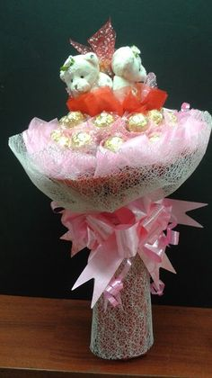 Bouquet with Mini Bears & Ferrero Rocher® - 4GC0001