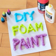 It only takes 3 ingredients for this DIY foam paint that's super easy to make and a great way entertain your young artists.