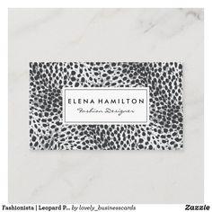 Fashionista | Leopard Print Business Card