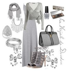 Total look Grey Hijab Outfit Hijab Chic, Hijab Style, Maxi Outfits, Hijab Outfit, Chic Outfits, Hijab Dress, Street Hijab Fashion, Muslim Fashion, Hijab Wedding Dresses