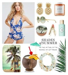 """Shades of Summer"" by linmari ❤ liked on Polyvore featuring Tory Burch, Urban Decay, Nika, Seafolly, Herbivore, Benefit, Sydney Evan and Kenneth Jay Lane"