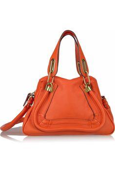 Chloé - The Paraty Small leather bag Chloe Shoes, Chloe Bag, Small Leather Bag, Leather Purses, Orange Bag, Big Bags, Purses And Handbags, Crossbody Bag, Clutches