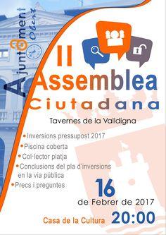 L'Ajuntament de Tavernes convoca una nova assemblea ciutadana