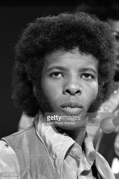 Sly Stone of the band, 'Sly and the Family Stone' at rehearsal for a television appearance, October 15, 1969.