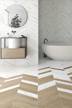 You searched for product - Virginia Tile Company Chevron Bathroom, Chevron Tile, Chevron Floor, Wood Bathroom, New Bathroom Designs, Bathroom Trends, Bathroom Interior Design, Tuile Chevron, Wood Tile Floors