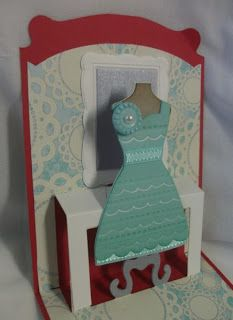 love this new Stampin' Up! pop 'n cuts die - dress form with the All Dressed Up framelits