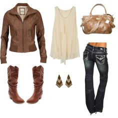 Art Fall wear i-would-love-to-look-like Night Outfits, Dress Outfits, Winter Outfits, Cute Outfits, Fashion Outfits, Cowgirl Outfits, Cowgirl Boots, Country Outfits, Country Boots