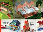Meddybemps Miniature Village Free Papercraft Templates Download