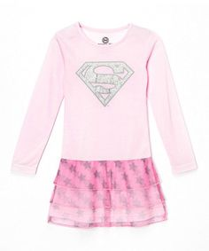 Love this Light Pink Supergirl Dress - Toddler & Girls by Intimo on #zulily! #zulilyfinds