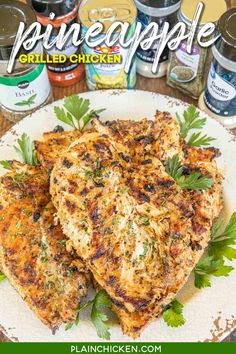 Grilled Chicken Breast Recipes, Grilled Chicken Recipes, Marinated Chicken, Chicken Marinate, Plain Chicken Recipe, Grilling Recipes, Cooking Recipes, Food Dishes, Main Dishes