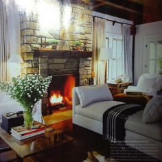 Great angus and company daybed from House and Home Oct spread. Perfect conversation group divider - keeps view open.