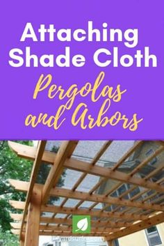 If extra light becomes a problem, such as when the hot sun overheats your patio, a pergola or awning can be covered in shade cloth. Pergola Patio, Pergola Swing, Metal Pergola, Deck With Pergola, Covered Pergola, Pergola Shade, Pergola Plans, Pergola Ideas, Deck Gazebo