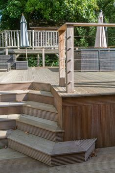 Deck, Stairs, Storage, Outdoor Decor, Projects, Home Decor, Purse Storage, Log Projects, Stairway