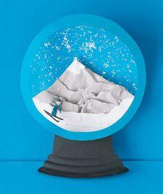 Experience winter, spring, summer, and fall with these paper constructions by artist Matthew Sporzynski. Snow Globe Kit, Diy Snow Globe, Snow Globes, Autumn Art, Winter Art, Snow Globe Crafts, School Fun, School Stuff, Globe Art
