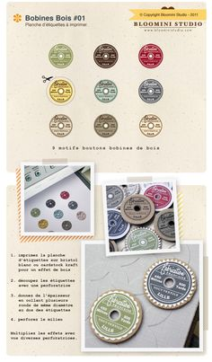 Vintage spool top printables