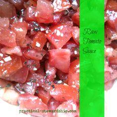 SCD Raw Tomato Sauce (*Use SCD legal balsamic vinegar...)