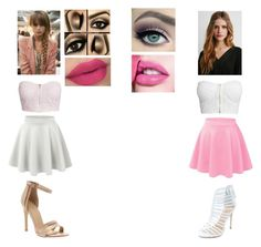 Pink & White by jada20432-dc on Polyvore featuring NLY Trend, Forever 21, Maybelline and Kershaw