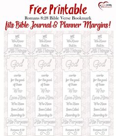 Free Bible Verse Coloring Bookmark fits Bible Journal & Planner Margins!