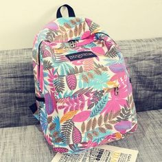 2015-Hot-men-and-women-printing-leaves-students-backpacks-rucksack-fashion-canvas-bags-retro-casual-school-travel-bags-middle-0