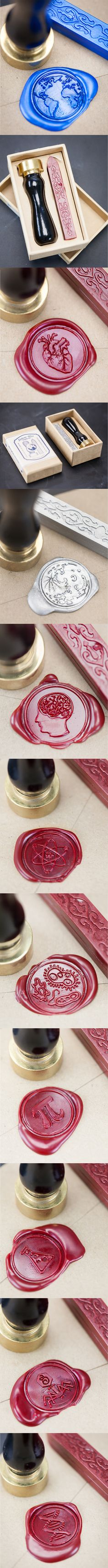 Science wax seals for nerdy wedding invites & awesome correspondence.