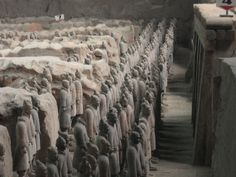 The Terracotta Army  Xi'an, Shaanxi Province, China