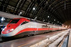 to Travel Italy by Train: It's Easy, We Promise High-speed Italian train - how to travel by train in Italy.High-speed Italian train - how to travel by train in Italy. Italy Travel Tips, Rome Travel, Ways To Travel, Travel Europe, Travel Destinations, Italy Rail, Italy Italy, Milan Italy, Voyage Rome