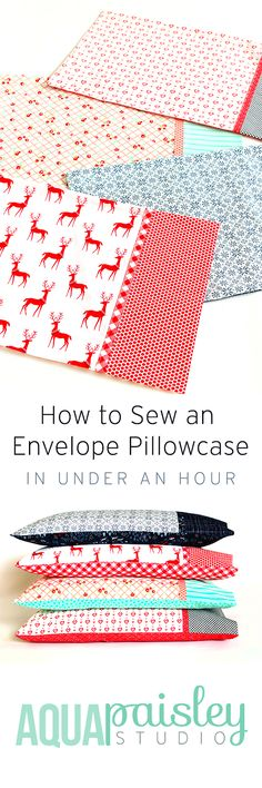 The perfect pillowcase tutorial - the pillow gets tucked away snug inside, making it pretty and practical!