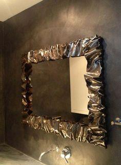 CORNICE Specchio FERRO BATTUTO con o senza LED . compatibile Alexa Google . 850 Led, Photos, Creations, Mirror, Frame, Furniture, Instagram, Design, Home Decor
