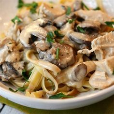 We're making this for #lunch: Chicken Mushroom Fettuccine by @recipegirl