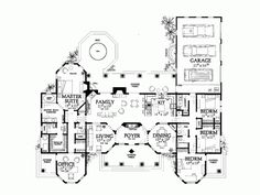 Mediterranean House Plan with 2831 Square Feet and 4 Bedrooms(s) from Dream Home Source | House Plan Code DHSW45311