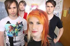 "part of the RIOT! photoshoot on set of the ""Misery Business"" music video"