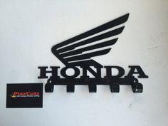 HONDA Wings logo Key Rack CNC Plasma cut & powder coated with choice of colours Cnc Plasma Cutter, Plasma Cutting, Honda Wing, Corte Plasma, Plasma Table, Welding Projects, Wood Projects, Wings Logo, Key Rack